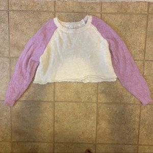 Cropped Long Sleeved Furry Sweater